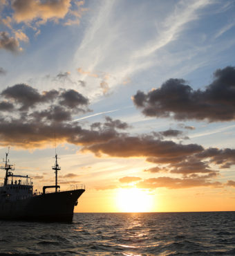 M/V Pacific Hope at Sunset